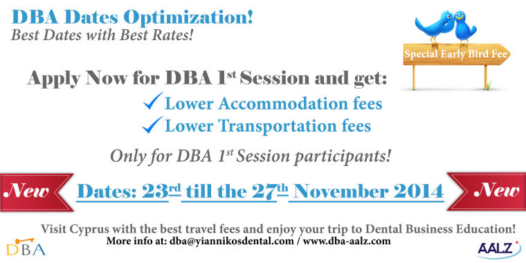 DBA 1st Session Dates Optimization