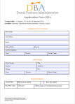 DBA Application Form