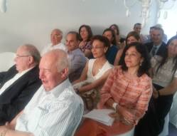 The honorary speakers and guests of the event.