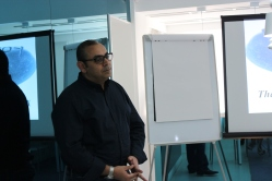 Dr. Ali during his business plan Evaluation