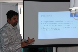 Dr. Sachin during his business plan Evaluation